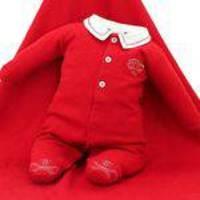Saída de Maternidade Tilly Baby Masculina Carrinho Vermelha