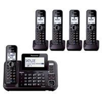 Telefone Fixo Sem Fio Panasonic KX-TG9545B + 05 Ramais Expansíveis