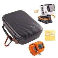 Kit Estojo Gocase + Capa Protetora + Pro-Clip H4-PAK para Câmeras GoPro e Acessórios