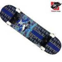 Skate Montado Black Sheep Profissional Brasão Azul