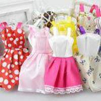 10pcs Crianças Meninas Brinquedo Acessórios Moda Vestidos Artesanais Roupas Para Boneca Barbie