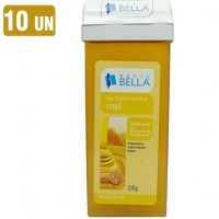 Kit 10x Refil Cera Depilatória Depil Bella Roll-on Mel
