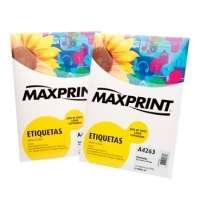 Etiqueta Para Impressora A Laser Com 100 Folhas 101 6x84 7 492204 Maxprint