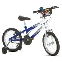 Bicicleta Infantil Sport Bike Thunder Aro 16 Branca e Azul