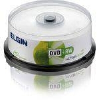 DVD Regravavel DVD+rw 4,7gb/120min/4x Elgin Tubo-25