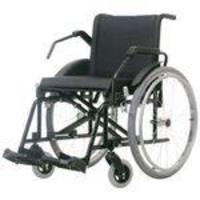 Cadeira De Rodas Aço Poty 50 Cm Preta - Baxmann E Jaguaribe