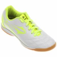 e2d334bc04 Chuteira Topper Champion 3 Futsal Masculino Branco e Verde Limão ...