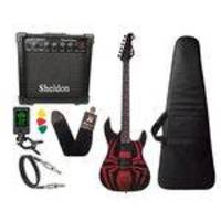 Kit Guitarra Spider Man Aranha Phx Cubo Amplificador Sheldon
