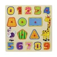 Encaixe e Brinque Linha de Madeira Números