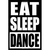 Eat Sleep Dance | Cool Notebook for Modern Dance Lovers, College Ruled Journal: Medium Ruled