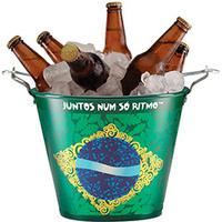 Balde em Alumínio Copa do Mundo Cores do Brasil