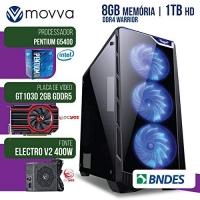 Computador gamer mvxp pentium g5400 3.7ghz 8ª ger. mem. 8gb hd 1tb hdmi gt 1030 2gb ddr5 64bits font