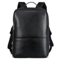 Novos Bopai Men Leather Backpack Laptop Bolsa Business Shoulder Mochila Maleta