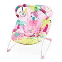 Cadeira De Descanso Mastela Jardim Função Vibratória Rosa