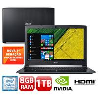"Notebook Acer Aspire A515-51G-58VH Intel Core i5-7200U 8GB 1TB 2.5GHz LED 15.6"" Windows 10"