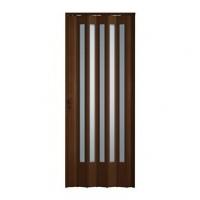 Porta Sanfonada Translucida Com Fechadura Imbuia 072x210cm