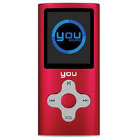 MP4 Player You Sound Soft 4GB Vermelho