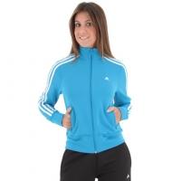 Agasalho Feminino Adidas 3S Essentials Knit Azul e Preto  aa17297624dc8