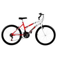 16ec1e6e0 Bicicleta Ultra Bicolor Pro Tork Aro 26 18 Marchas Vermelha Ferrari e Branca