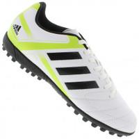 Chuteira Society Adidas Puntero IX TF Ss14 Branca e Preta  29dec3eb6cfa5