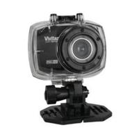 Câmera Filmadora de Ação Vivitar DVR787HD Full HD 12.1MP com Caixa Estanque e Suportes Preta