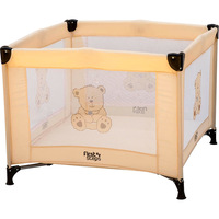 Berço Cercado First Steps Smart Urso Bege