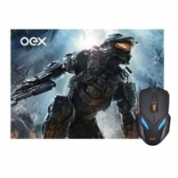 Mouse + Mousepad Gamer Oex War MC-100