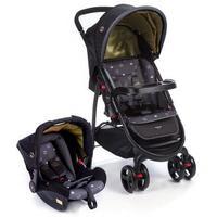 Carrinho De Bebê E Bebê Conforto Cosco Nexus Preto