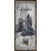 Quadro Oldway Linho Antique London Bridge 127x56x4cm