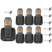 Telefone sem Fio Intelbras TS 5120 + 6 Ramal TS 5121 + 7 Headset Fone HC 10