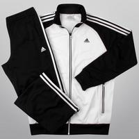 Agasalho Adidas Ribério Masculino Preto e Branco  cbdd88dfeb959