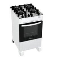 Fogão Atlas 4 Bocas branco Mônaco Top Glass com Acendimento automático - Bivolt